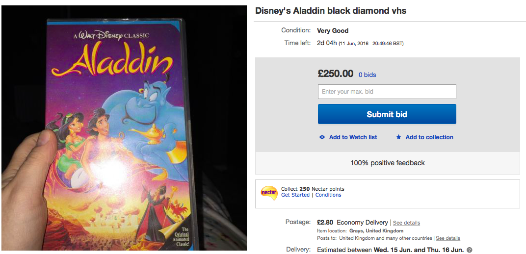 Why Are Disney Black Diamond Vhs Prices So High